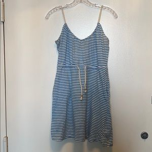 H and M blue striped dress size XS